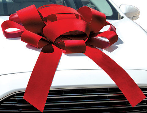 "CAR BOWS RED VELVET BOW 43"" Size - Sisupplies.com"