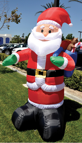 8' TALL SANTA - INFLATABLE - Sisupplies.com