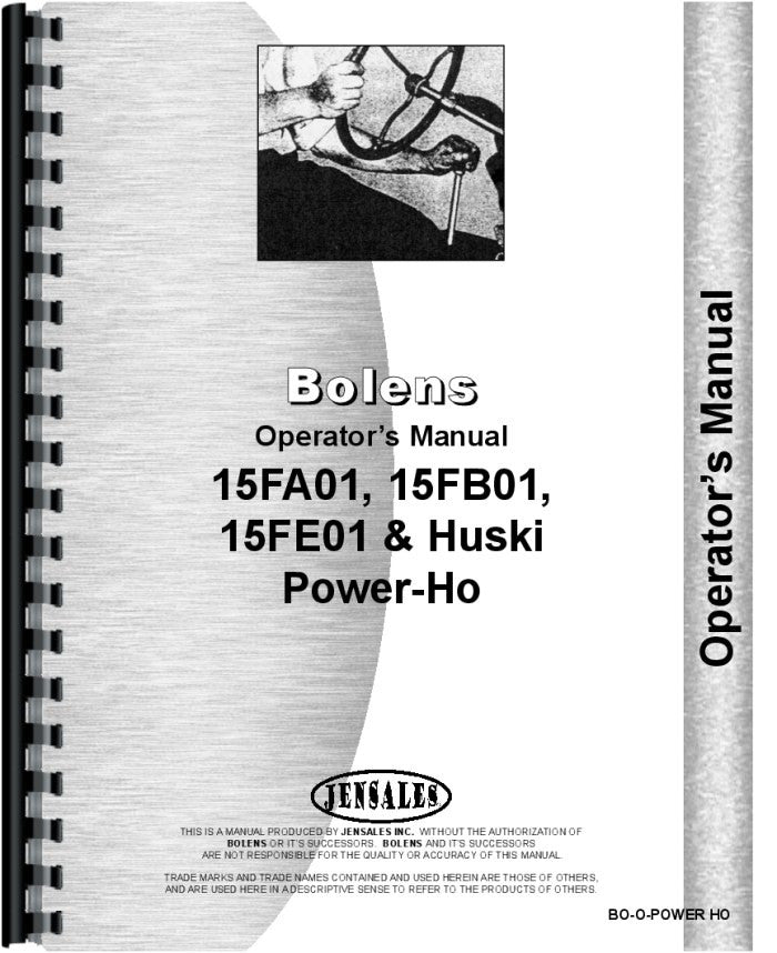 Operators Manual for Bolens 15FB01 Power-Ho Walk Behind