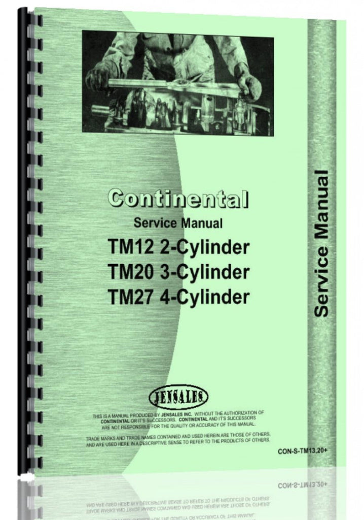 Service Manual for Continental Engines TM13 Engine