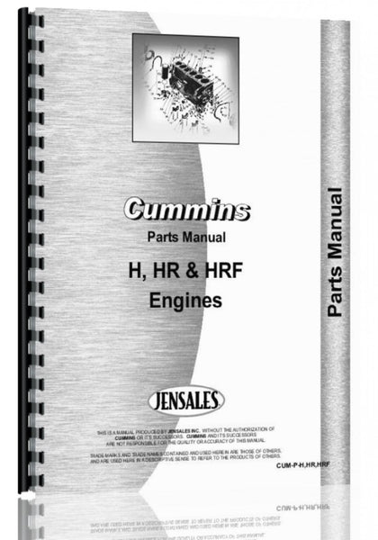 Parts Manual for Cummins HR Engine