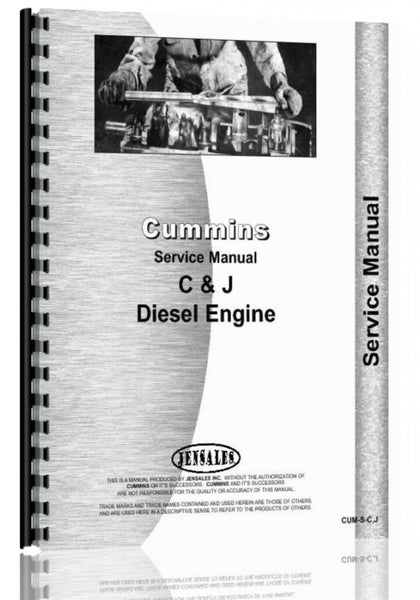 Service Manual for Hough H-70 Pay Loader Cummins Engine