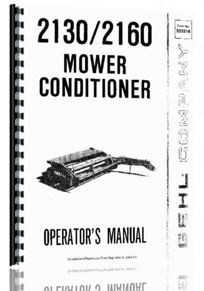 Operators Manual for Gehl 2160 Mower Conditioner