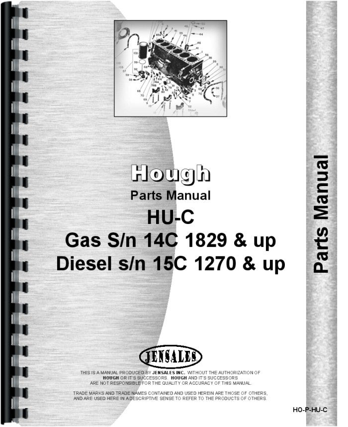 Parts Manual for Hough HU-C Pay Loader – Advanced Machinery
