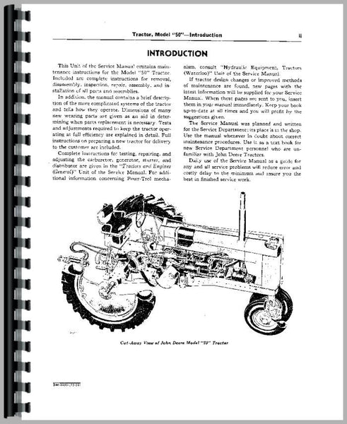 Service Manual for John Deere 70 Lawn & Garden Tractor