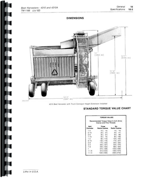 Service Manual for John Deere 345 Rotoboom Attachment