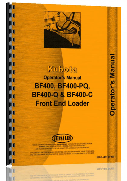 Operators Manual for Kubota BF400 Loader Attachment for L235F, L235DT, L275F, L275DT Tractor