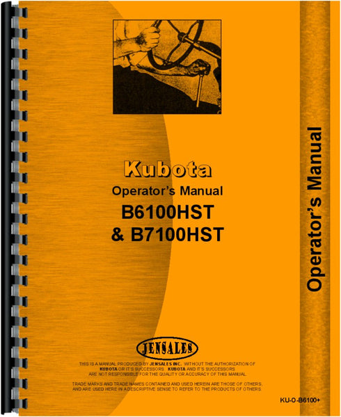 Operators Manual for Kubota B61 Tractor