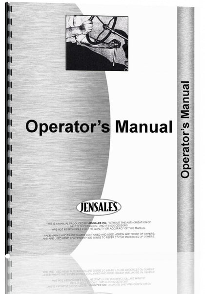 Operators Manual for Gehl HK108 Mower Conditioner