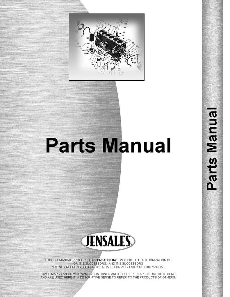 Parts Manual for Ford Fordson Super Major Sherman F9 Backhoe Attachment