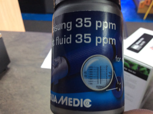 Aquamedic test fluid for refractometer
