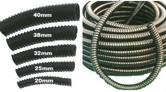 Ribbed Hose Black