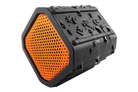 EcoXGear Orange EcoPebble Bluetooth Speaker - EcoXGear
