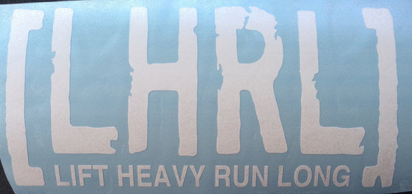 Distance & Deadlift Transfer/Bumper Sticker ***NUMEROUS VARIATIONS** - Lift Heavy Run Long - 6