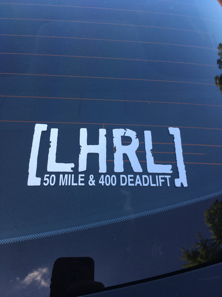 Distance & Deadlift Transfer/Bumper Sticker ***NUMEROUS VARIATIONS** - Lift Heavy Run Long - 3