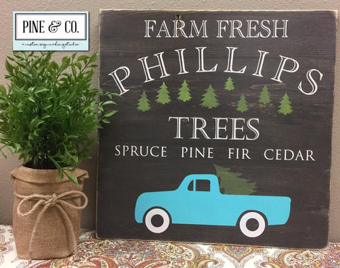 Personalized Farm Fresh Trees