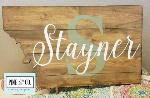 Personalized MT Shaped Pallet with Monogram