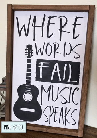 Where words fail