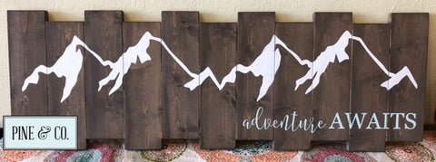 Adventure Awaits Mountains Staggered Pallet