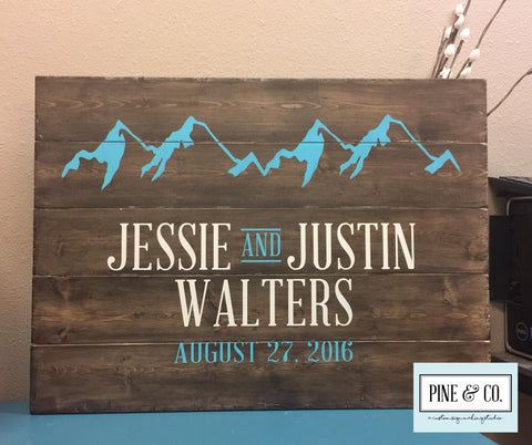 Personalized Sign with Mountains
