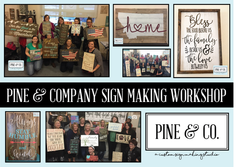 January 3rd {6:00p-9:00p} *FAMILY FUN FRIDAY* Sign Making Workshop