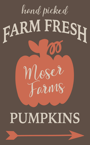 Personalized Farm Fresh Pumpkins