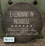 E-Learning Round Sign