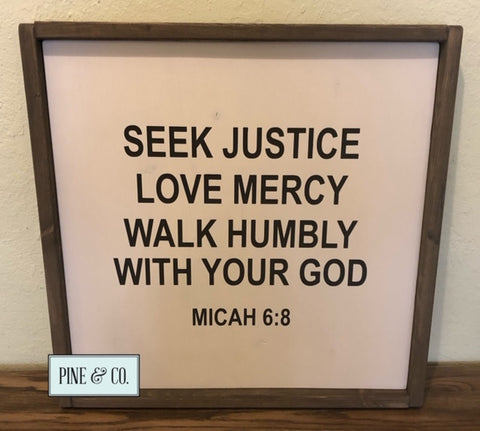 Seek Justice Love Mercy