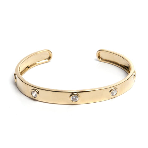 Crystal Cuff - Gold