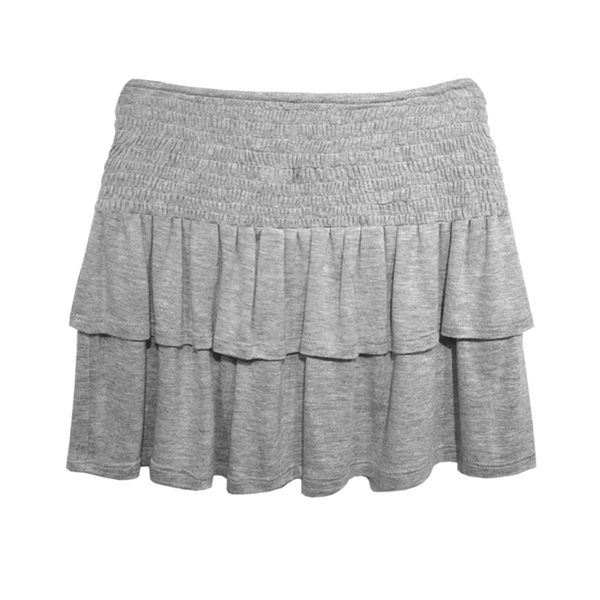 Smock Tiered Skirt- Grey