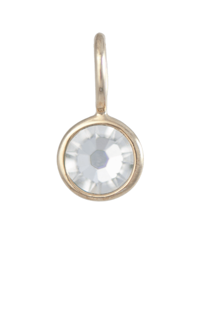 April Birthstone Gold Charm