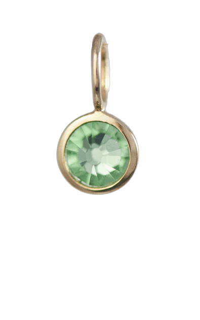 August Birthstone Gold Charm