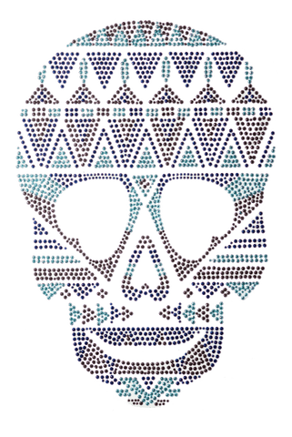 Aztec Skull Blue - Large