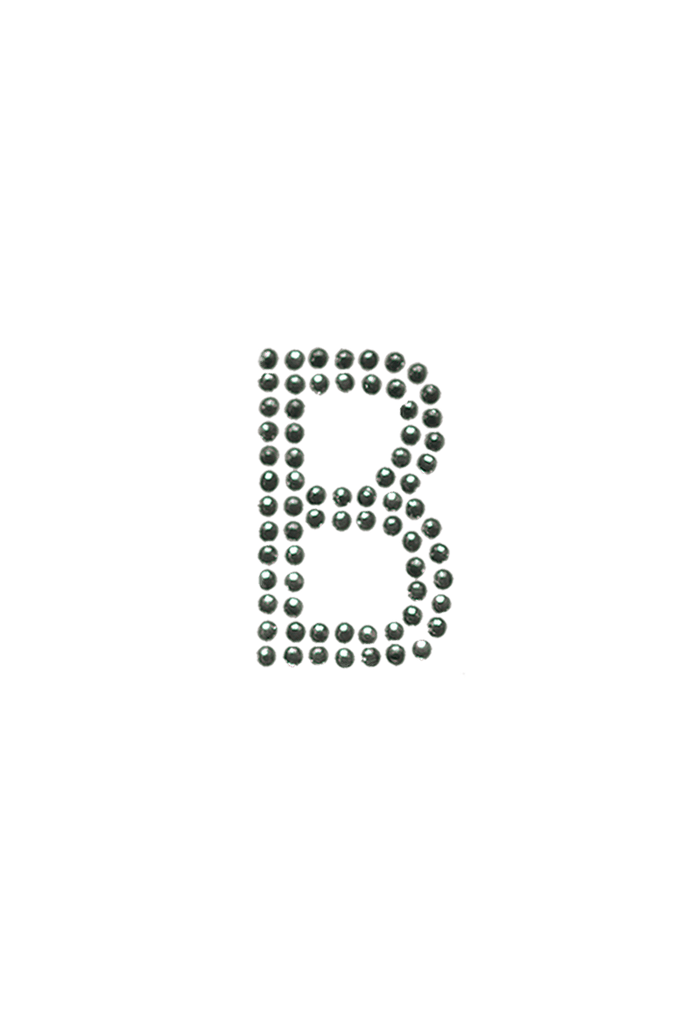 Clear Crystal Block Letter - B