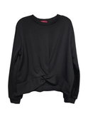 Twist Front Sweatshirt - Black