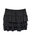 Triple Tiered Skirt- Black