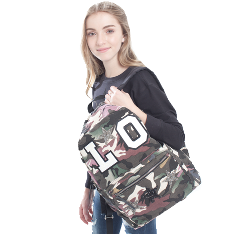 Custom Varsity and Star Camo Backpack