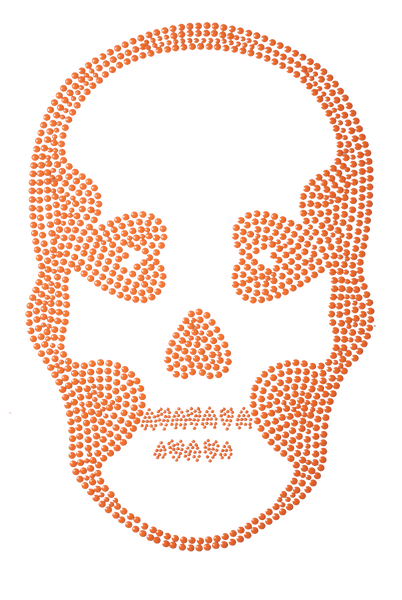 Basic Skull Neon Orange - Large