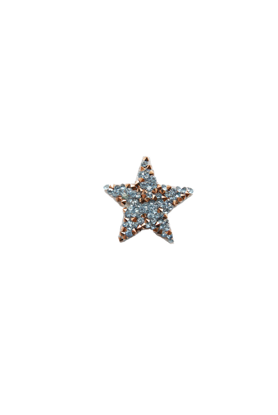 Mini Star Rock Crystal - Blue/Rose Gold