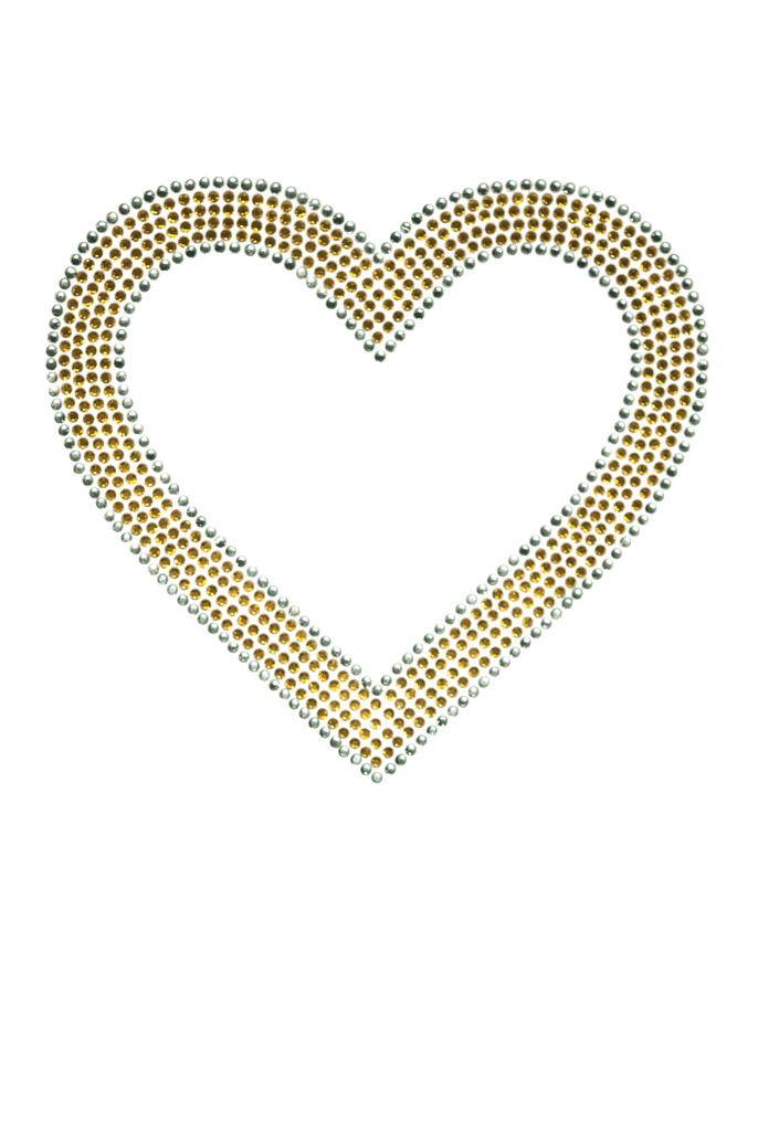 Bubble Heart Gold - Large