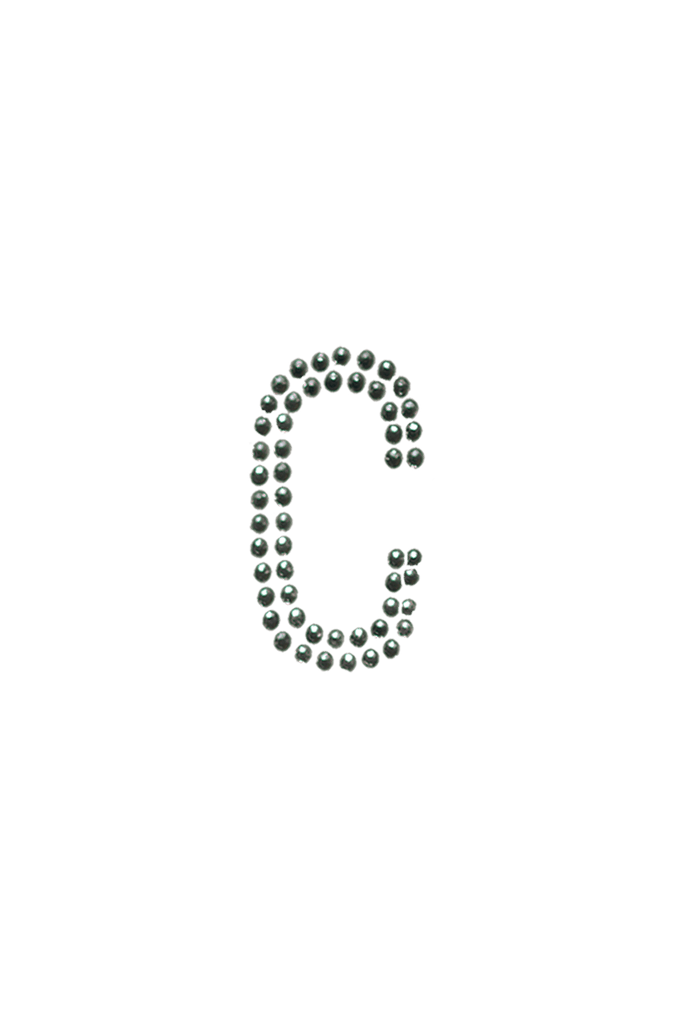 Clear Crystal Block Letter - C
