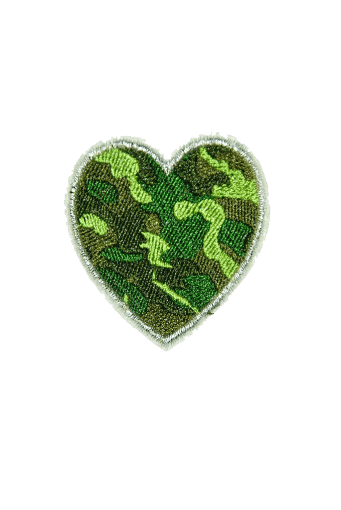 Camo Heart Iron On patch_tag from me.n.u