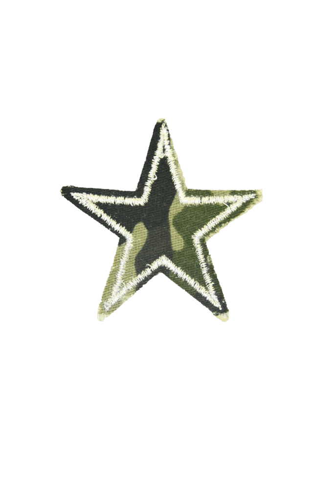 Camo Star Iron On patch_tag from me.n.u
