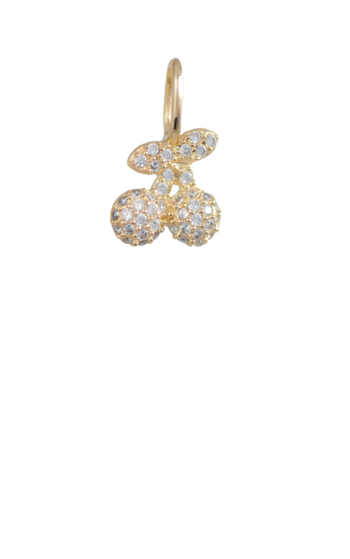 Crystal Gold Charm - Cherry