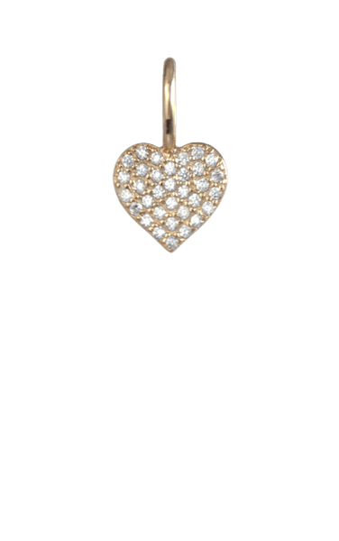 Crystal Gold Charm - Heart