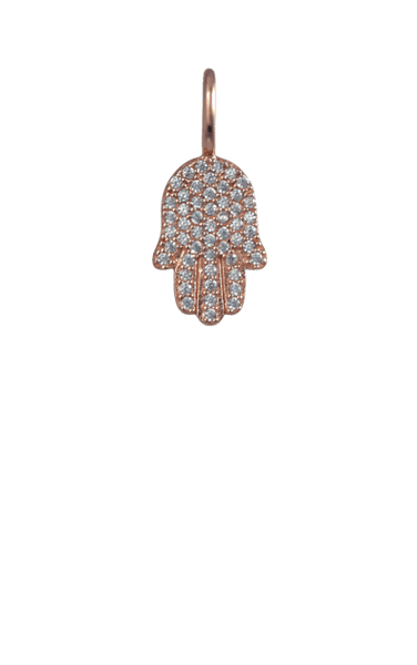 Crystal Rose Gold Charm - Hamsa