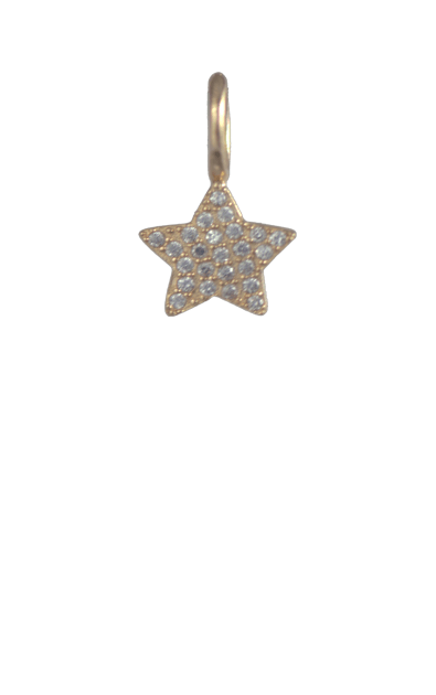 Crystal Gold Charm - Star