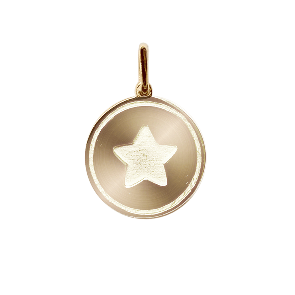 Disc Star Charm - Gold