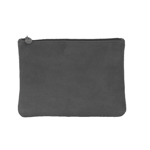 Suede Clutch - Grey