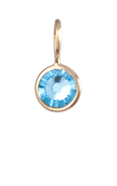 December Birthstone Gold Charm